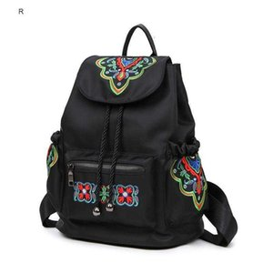 Wholesale chinese back packs for sale - Group buy Hot Chinese Style National Women Embroidered Backpack Butterfly Bag Female Nylon Vintage Back Pack College Students School Bags
