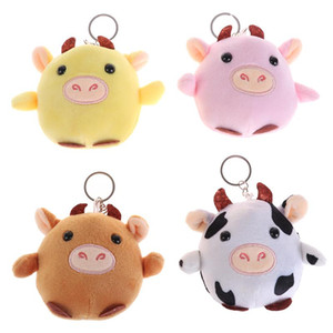 Wholesale mini bottle pendant diy resale online - New Plush Toys Cute Calf Doll Small Cow Rag Stuffed Toys Doll Pendant Keychain Children s For Girl