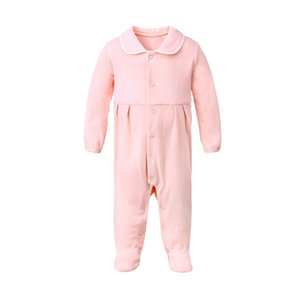 Wholesale newborn footed pajamas resale online - Pureborn Newborn Baby Girl Footies Footed Jumpsuit Pajamas Breathable Cotton Baby Girl Clothes Printed Baby Girl Footies