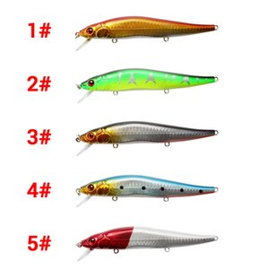 Wholesale fishing lures resale online - 11cm g Mixed Colors ABS Minnow Fishing Lure Swimbait Crankbait Rigged With High Carbon Steel Sharp Treble Hooks X2