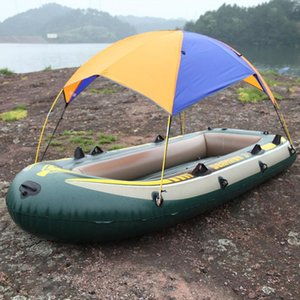 Wholesale inflatable sunshade resale online - Waterproof Sun Shelter Sunshade Protection Outdoor Canopy Garden Patio Pool Shade Sail Awning For Inflatable Boat Rubber Boat