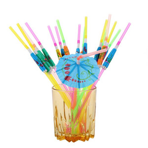 Wholesale umbrella straws for sale - Group buy Bar Decorations Disposable Straws Manual paper Umbrella Cocktail Drinking Straws Wedding Event Holiday Party Supplies YHM328