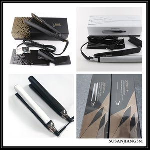 STOCK EU US AU UK PLATINUM + Hair Straighteners Professional Styler Flat Hair Iron Straightener Hair Styling Tool Good Quality V Gold Max