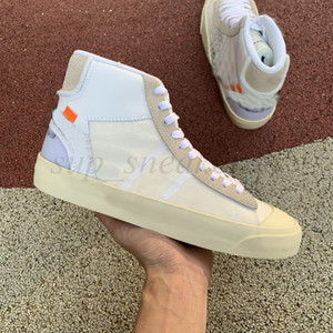 ingrosso riso bianco-2018 Blazer Scarpe Mid Sneakers Outdoo Men Jogging Shoes Sports Trainer Ror Uomo Donna Black White Riso Skateboard Scarpa