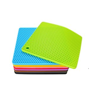 ingrosso 15 disco-60g Silicone Honeycomb Mat Colors Round Silicone Placemat Disc Mat Bowl Pot Mat AHB5296