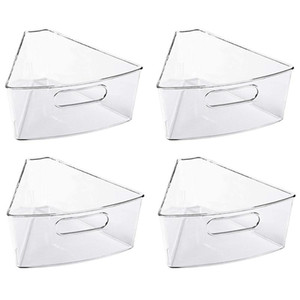 Wholesale handle cabinets resale online - Cabinet Organizer with Handle BPA Free Durable Plastic Transparent Kitchen Storage Bins