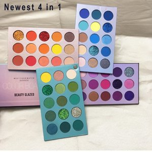 Wholesale eye shadow palett resale online - HOP Beauty Glazed Eyeshadow Palette Colorful Shadows Palett Glitter Highlighter Shimmer Make Up Pigment Matte Eye Shadow Pallete dhl