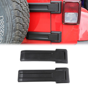 Wholesale jeep tire cover resale online - for Jeep Wrangler JK JKU Tailgate Door Spare Tire Holder Bracket Hinge Decoration Cover Sticker Car Accessories