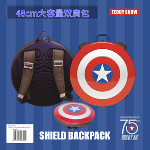 Wholesale captain american shield for sale - Group buy 75th anniversary film of primary schoolbag shield backpack USA for Captain and computer school teenagers for backpack middle students Gqhkg