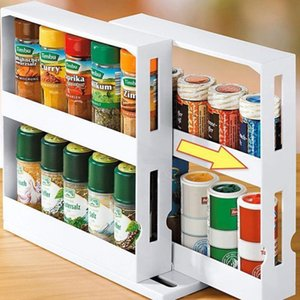 Wholesale spice racks for sale - Group buy Kitchen Spice Organizer Rack Multi Function Rotating Storage V2