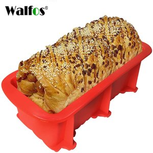 Wholesale soap loaves resale online - WALFOS FOOD GRADE Non Stick Cake Bread Mold Bakeware Large Toast French Bread Pan soap Loaf Pan Mold Baking Silicone Cake Pan