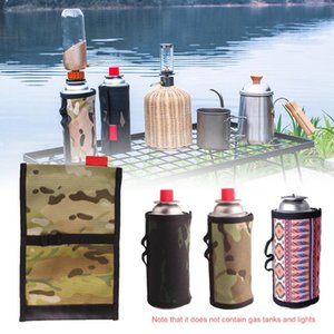 Wholesale propane tank resale online - 6 x9 cm Gas Canister Cover Liquid Propane Tank Protection Covers Fuel Canister Storage Bag for Camping Hiking