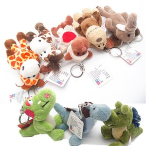 Wholesale zoo animals for sale - Group buy Mini Simulation Animal Keychain Plush PP Cotton Cute Zoo Animals Present