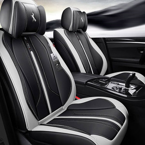 Wholesale seat resale online - Car Seat Covers Durable Leather Universal Five Seats Set Cushion Mats For seat Seater car Fashion