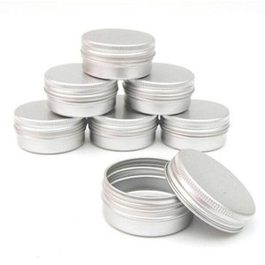 Wholesale pot pack resale online - Pack of Nail Art Cosmetic Cream Make Up Pot Lip Jar Tin Case Container Screw Capacity Empty for DIY Cosmetics Beauty P