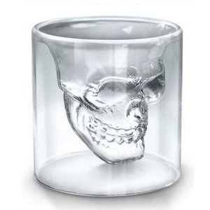 Wholesale wine glasses resale online - 25ML ML ML ML Wine Cup Skull Glass Shot Beer Whiskey Halloween Decoration Creative Party Transparent Drinkware Drinking Glasses FY45