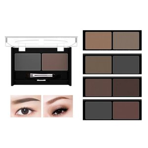 Wholesale brow palettes resale online - MYG Double Eyebrow Powder Makeup with Brows Brush Color Palette Natural Long lasting Waterproof Sweatproof Coloris Cosmetics Eyebrows