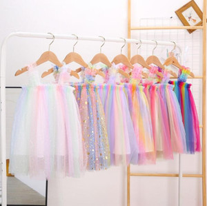 ingrosso linea vestiti designer-Girls Tulle Gonne in tulle Gonne Tutu Summer Princess Dresses Bambini Designer Abbigliamento Ins Ball Gown A Line Dress Dress Dance Party Elegante Dress YL313