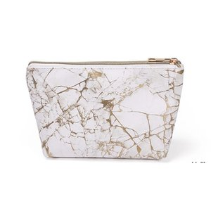 Wholesale designer clutches bags resale online - Fashion Marble Cosmetic Bag Creative Dumpling Shaped Portable Storage Bag Makeup Party Bags Decorative Clutch EWA3948