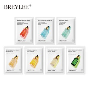 Wholesale moisturizer facial resale online - BREYLEE Face Mask Collagen Facial Sheet Mask Retinol Acne Treatment Serum Moisturizer Skin Care Anti Aging Vitamin C Face Mask