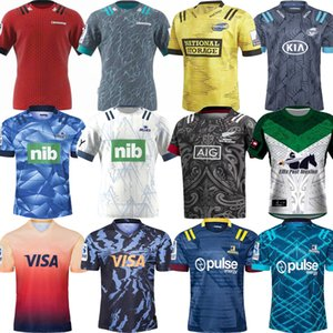 uniformes de chefs achat en gros de-news_sitemap_home2021 Super Rugby Le chef Blues Hurricanes Highlanders Jersey Entraînement Chemises Argentine Jaguares Uniforme NZL Crusaders Maori Tous Black Jerseys manches courtes