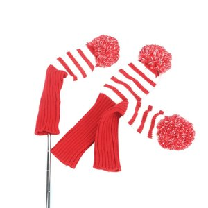 ingrosso titolare di golf club-Tourbon Red Knitting Golf Clubs Carrier Imbottito Clubs Head Cover Protection Deposito Golf Gun Bag Holder L0302