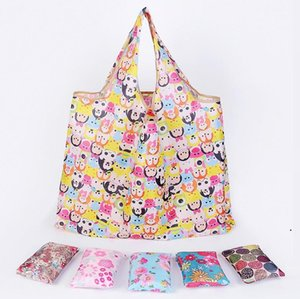 Wholesale totes for storage resale online - New Eco Friendly Tote Bags For Women Large Capacity Waterproof Foldable Shopping Bags Reusable Storage Bag Home Sundries Bag DHF5093