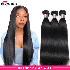 Wholesale brazilian hair resale online - Ishow Mink Brazilian Body Straight Loose Deep Water Human Hair Bundles Unprocessed Human Hair Extensions Peruvian Body Hair Weave Bundles