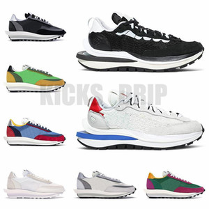 Wholesale string lights outdoors resale online - New VaporWaffle LD Waffle Men Women Running Shoes Trainers Sail Game Royal Black White String Villain Red Mens Outdoor Sports Sneakers