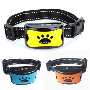 Wholesale dog stop barking device for sale - Group buy Pet Dog Anti Barking Device USB Electric Ultrasonic Dogs Training Collar Dog Stop Barking Vibration Anti Bark Collar L0220