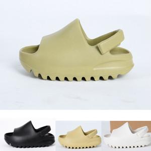 2021 fashion Summer Children shoes boy girl youth kid Kanye west Slide Desert Sand Beach slipper foam runner Bone sandal