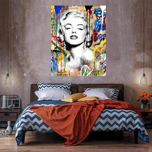 Wholesale marilyn monroe wall art canvas for sale - Group buy Brainwash Banksy Marilyn Monroe street art graffiti Home Decor Handcrafts HD Print Oil Painting On Canvas Wall Art Canvas Picture