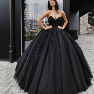 Wholesale sexy ball girls for sale - Group buy Black Prom Dresses New Formal Evening Party Pageant Gowns Special Occasion Dress Dubai k21 Black Girl Couple Day Ball Gown