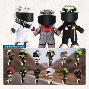Wholesale venom toys for sale - Group buy 28cm NEW Motorcycle Helmet Racing Bear Doll Stuffed Animals Toys Wear A Venom Helmet Doll Motorcycle Doll Decoration Gift Q0113