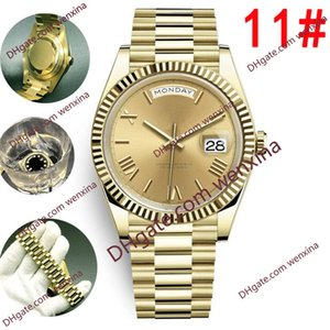 Wholesale mens yellow faced watches for sale - Group buy 20 Colour Top High Quality Yellow Rose Gold President Face Big Date Automatic Mechanics watch Waterproof Stainless Steel Mens Watches