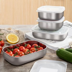 Wholesale refrigerators stainless steel resale online - Japan Imported Lunch Container Stainless Steel Bento Container Snack Storage Box for Kids Refrigerator Sealed Box