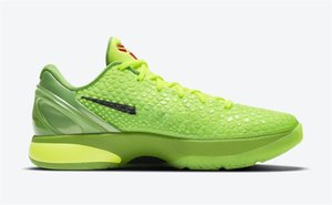Wholesale green apples resale online - 2021 Newest Authentic Christmas Protro Grinch Mamba Green Apple Volt Crimson Black Man Outdoor Shoes Sports Sneakers With Original Box