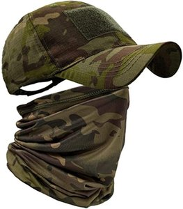 Wholesale tactical coolers resale online - Baseball Caps for Men with Cooling Neck Gaiter Face Scarf Mask Army Tactical Hat Neck Tube Snoods for Running Hunting