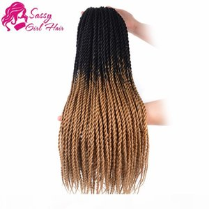 Wholesale hairstyles twists for sale - Group buy 5Packs quot Senegalese Twist Crochet Hair Braids Twist Crochet Braiding Hair Senegalese Twists Hairstyles For Black Women Black Light B