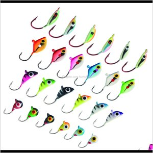 Wholesale crappie fishing resale online - Bassdash Ice Fishing Lure Kit Glowing Paint Jigs For Winter Ice Jigging Crappie Sunfish Perch Walleye Pike Xk2S Gzwkp