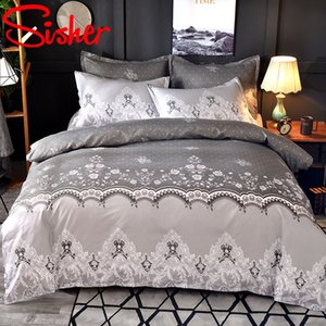 Wholesale single sheets resale online - Nordic Flower Bedding Set Luxury Lace Duvet Sets Comforter Quilt Cover Covers Single Double Queen King Size No Bed Sheet