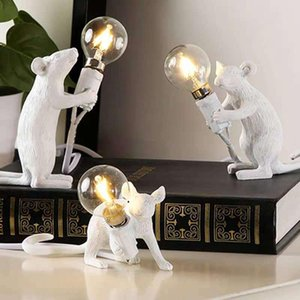 Wholesale resin tables for sale - Group buy Resin Animal Rat Mouse Nordic Table Lamp Small Mini Mouse Cute LED Night Lights Home Decor Desk Light Fixtures Bedside Luminaire