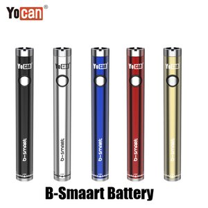 Wholesale e cig vape display stands for sale - Group buy Authentic Yocan B Smart Battery mAh Slim Twist Preheat VV Bottom Adjustable Voltage E Cig Vape Pen With Display Stand Original