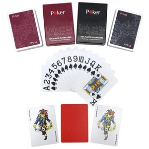 Wholesale play kids game for sale - Group buy Red Black High Quality Texas Holdem Plastic Playing Card Game Cards Waterproof And Dull Polish Poker Star Board Games