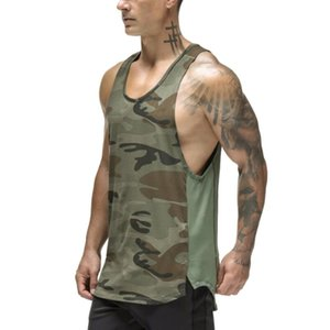 Wholesale sports army camouflage clothing for sale - Group buy t shirts territory army green camouflage vest men s summer breathable quick drying clothes men s sports vest