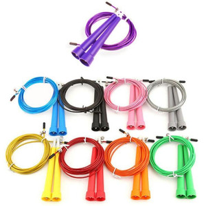 Wholesale jumping cables resale online - 100pcs Adjustable Crossfit Ultra Adjustable Speed Cable Jump Ropes Steel Wire Children Products Party Gift