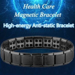 Wholesale energy magnetic titanium germanium bracelet resale online - New Stainless Steel Black Germanium Magnetic Chain Link Bracelet for Women Men Health Care Energy Jewelry Snoring Bracelet