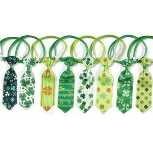 ingrosso pet i fornitori-50 St Patrick s Day Accessori per animali domestici Pet Dog Tie Articoli regolabili Collo cravatta per gatto cane Grooming fornitore fornitore di archi