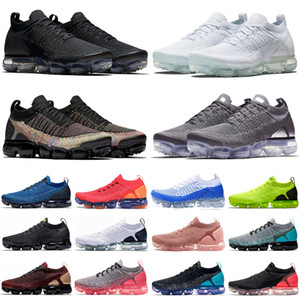 krom spor toptan satış-vapormax vapor max Vast Grey Sportswear CPFM x Athletic Running Shoes Oregon PRM Smile Gold Orange CNY Sneakers Mens Women Sports Trainers