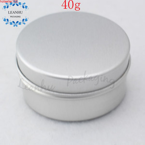 Wholesale small tin cans resale online - Empty Argent Aluminium Cans Empty Tins Cream Jars Cosmetic Packaging G Personal Care Packing Small Sample Containerhigh quatiy